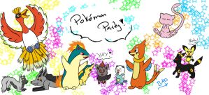 Pokemon Party (Gift for BudCharles) by ChemicallyColorful