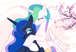 Princess Celestia  Princess Luna HUG in Ms-Paint by sallycars