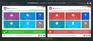 Modern Antivirus UI Concept - VirDefense by WarrenClyde