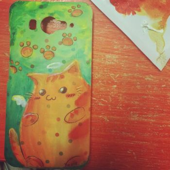 another painted phone coat for friend by LittleXevy
