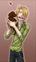 Sanji and Puppy by SybLaTortue
