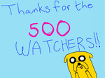500 WATCHERS!! by Sphere-of-Fantasy