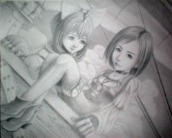 Sarah and Eiko of FF9 by DanYo912