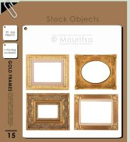 Object Pack - Gold Frames by MouritsaDA-Stock