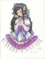 3rd Doll Pencil Colored by Estefa