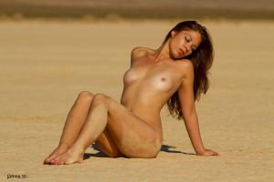 Laura in the Desert by Bearphotography