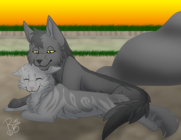 Graystripe and Silverstream by RiverBelle