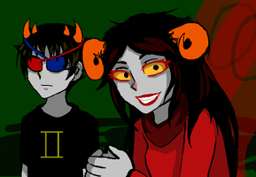 Sollux and Aradia :D by Litner-chi