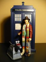 The Doctor K-9 and the Tardis by DoctorWhoNC