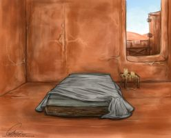 Bed in the Sand Palace by ValkAngie