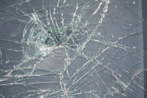 Smashed Windscreen by Lindalees
