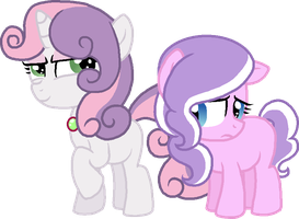 Sweetie Belle and Diamond Tiara by StarryOak