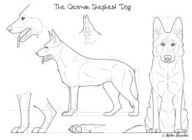 The German Shepherd Dog by Maranez