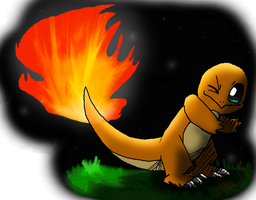 Charmander's Flame (Critiques Requested!!!!!!) by AncPikachu