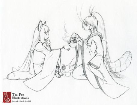 More Tea, Please [Commission] by TeaKitsune