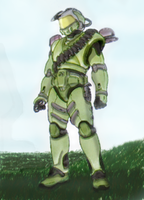 The Master Chief (Shi Kai Wang's sketch) by Nejarius