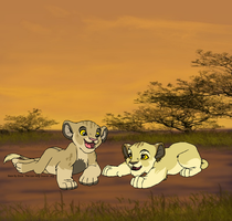 Adopted cubs by kisini