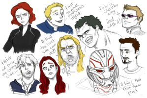 Age of Ultron sketches by pencilHeadno7