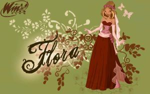 Flora wallpaper by Wayna