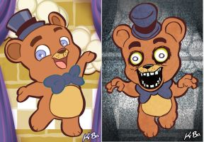 Five Nights at Freddy's Art Card 1 Freddy Fazbear by kevinbolk
