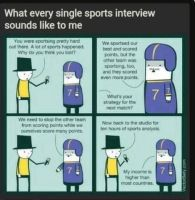 Every Sports Interview by misspuggsley21