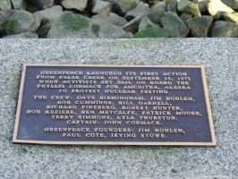Greenpeace plaque by S3Photography