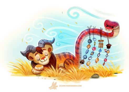 Daily Paint #1262. Wind Chimera by Cryptid-Creations