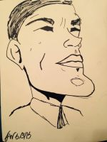 Obama Caricature by FanGirl37
