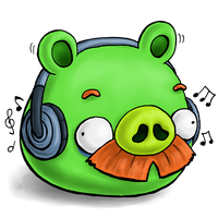 What is Moustache Pig listening by RiverKpocc