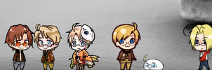 Shimejis for Mac: Hetalia- America and Canada by Shimejis-for-Mac
