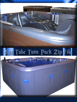 Spa Tube Twin Pack Zip File by WDWParksGal-Stock
