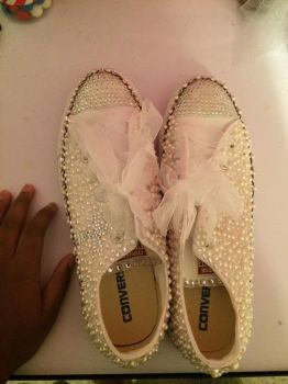 My 8th grade Graduation shoes by CoolKiddIce