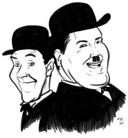 Caricature - Laurel and Hardy by teague