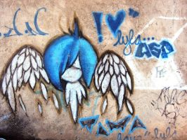 Paper wings graffity by jjtomcool