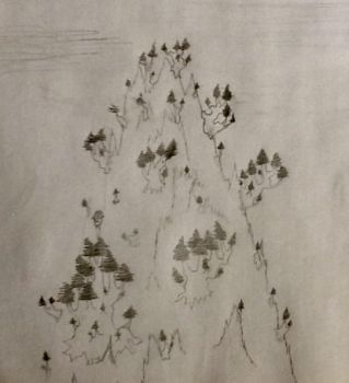Mountain forest test by Jess--Art