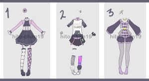 [Auction][CLOSED Outfit Batch 6 by hito-chan19