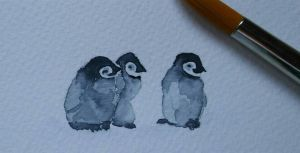 Baby penguins by Yumecc