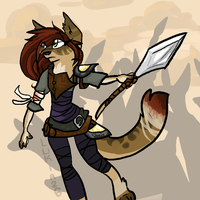 CLOSED DESIGN - The Warrior by Lukia26