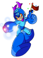 Mega Man? on the Scene by JamesmanTheRegenold