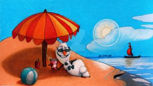 Drawing Olaf In Summer by jardc87