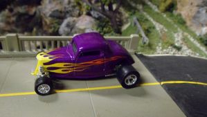 '34 Ford Hi-Boy Coupe with Flames by hankypanky68