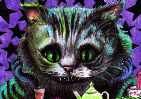Cheshire Cat - detail by deathwish85