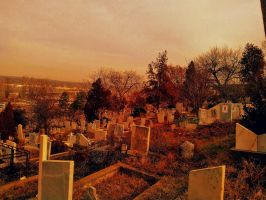 Cemetery at Eve by Beliar6