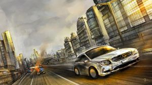 Film Concept-car chase by Odysseus-XB