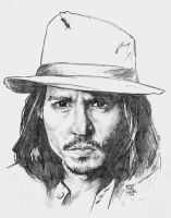 JOHNNY DEPP IN AN HOUR by MalevolentNate