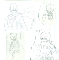 Russia, Prussia and Miku doodles by fruchtkuchentee