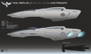Republic Acheilus Frigate by Galen82
