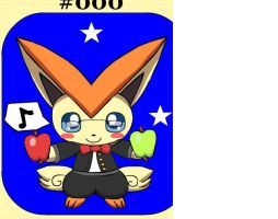 Me as  A victini by Browntown747