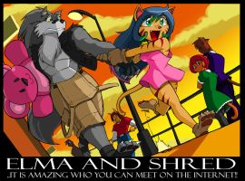 Dragonman Com. Elma n Shred by ShoNuff44