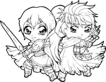 Angeline + Ike - Commission by Chibivi-Linearts